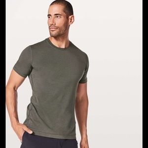 Lululemon T Shirt in Olive w/ Graphic on Front M